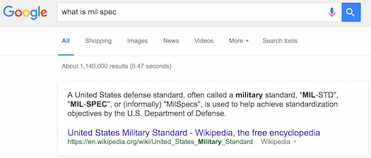 What is Mil Spec?