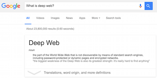 What is deep web?