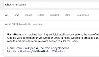 What is rankbrain?