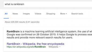 What is rankbrain?