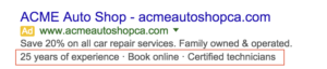 AdWords Callout Extensions Best Practices