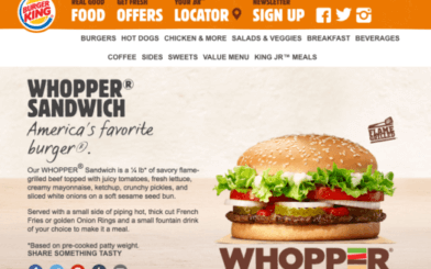 Whopper Burger Landing Page