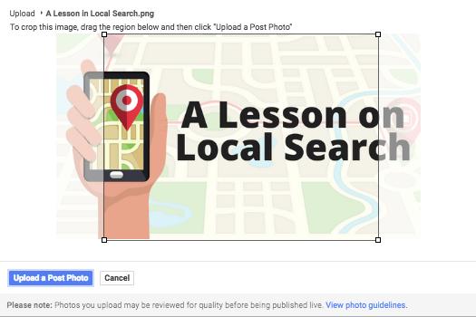 Google Posts Image Crop