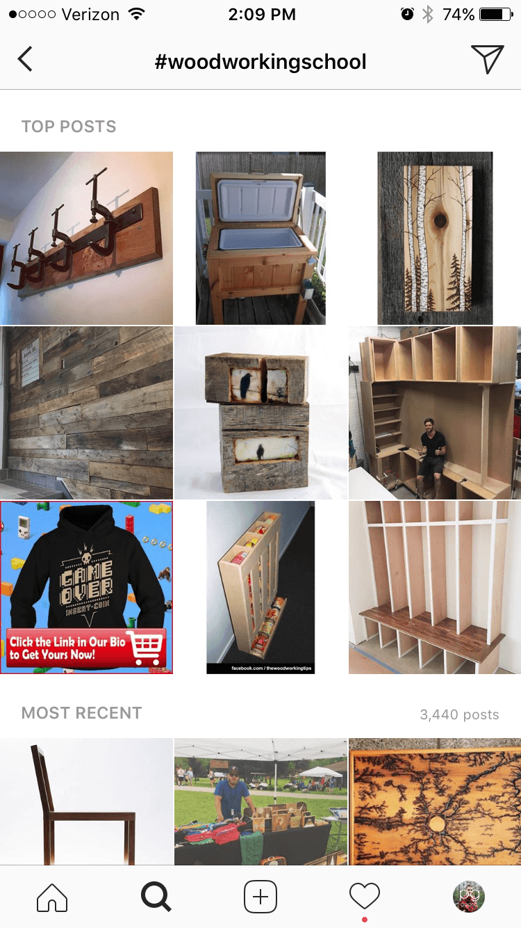 Woodworking School Hashtag Feed