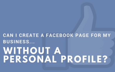 Can I create a Facebook page for my business without a personal profile?