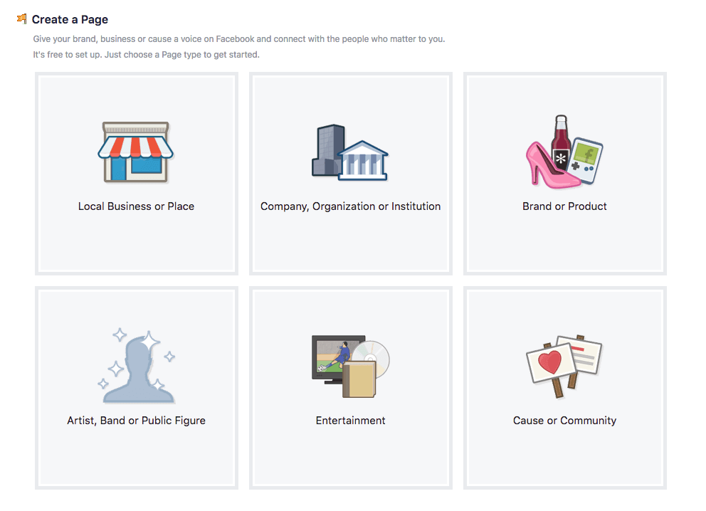 Screenshot - Create a Facebook Business Page